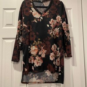 Floral long tunic